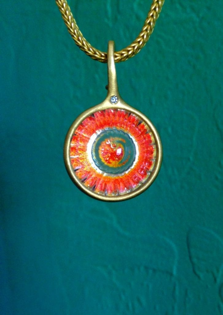 realgar - wheel of light pendant