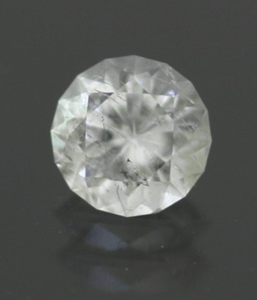 colemanite - round brilliant cut