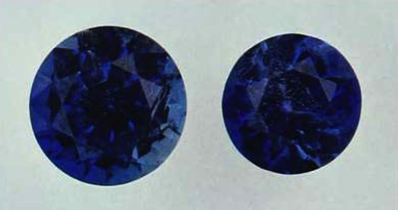 lazulite - faceted