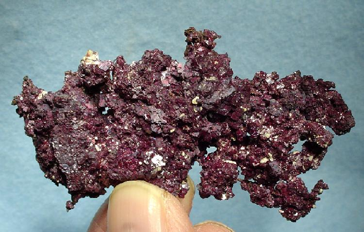 crust of cuprite crystals - New Mexico