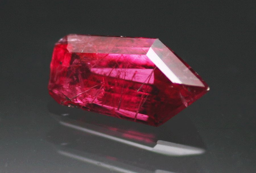 freeform step-cut pyroxmangite - Brazil