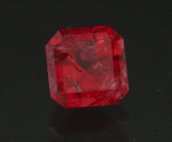 square step-cut eudialyte - Canada
