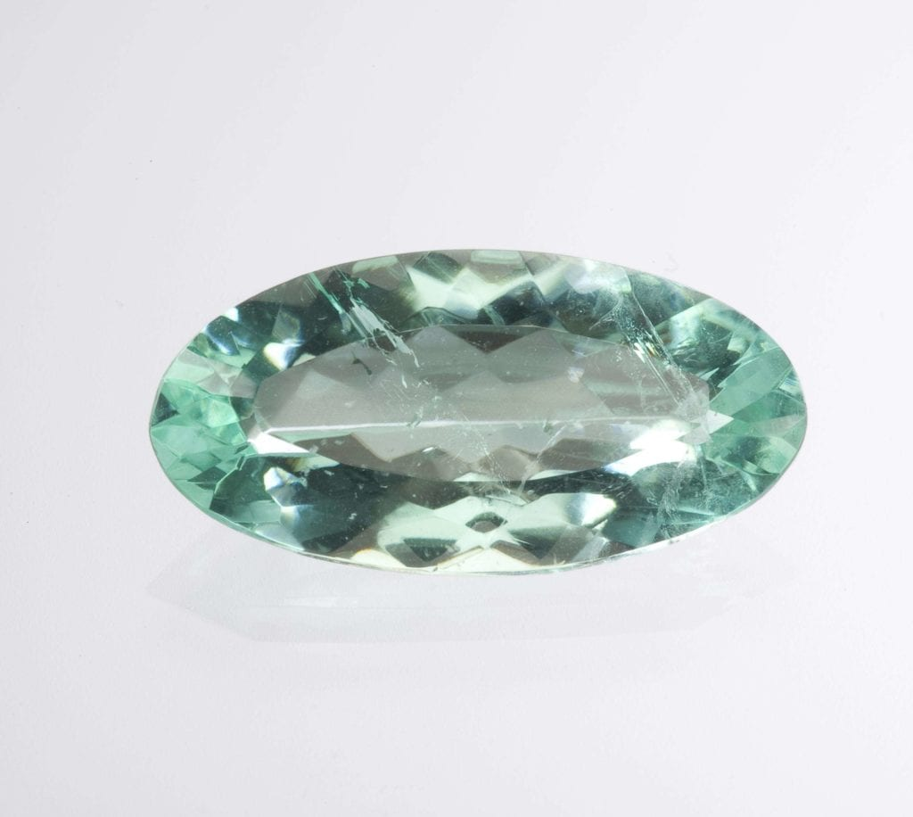 Faceted phosphophyllite, 10.22 cts - Bolivia