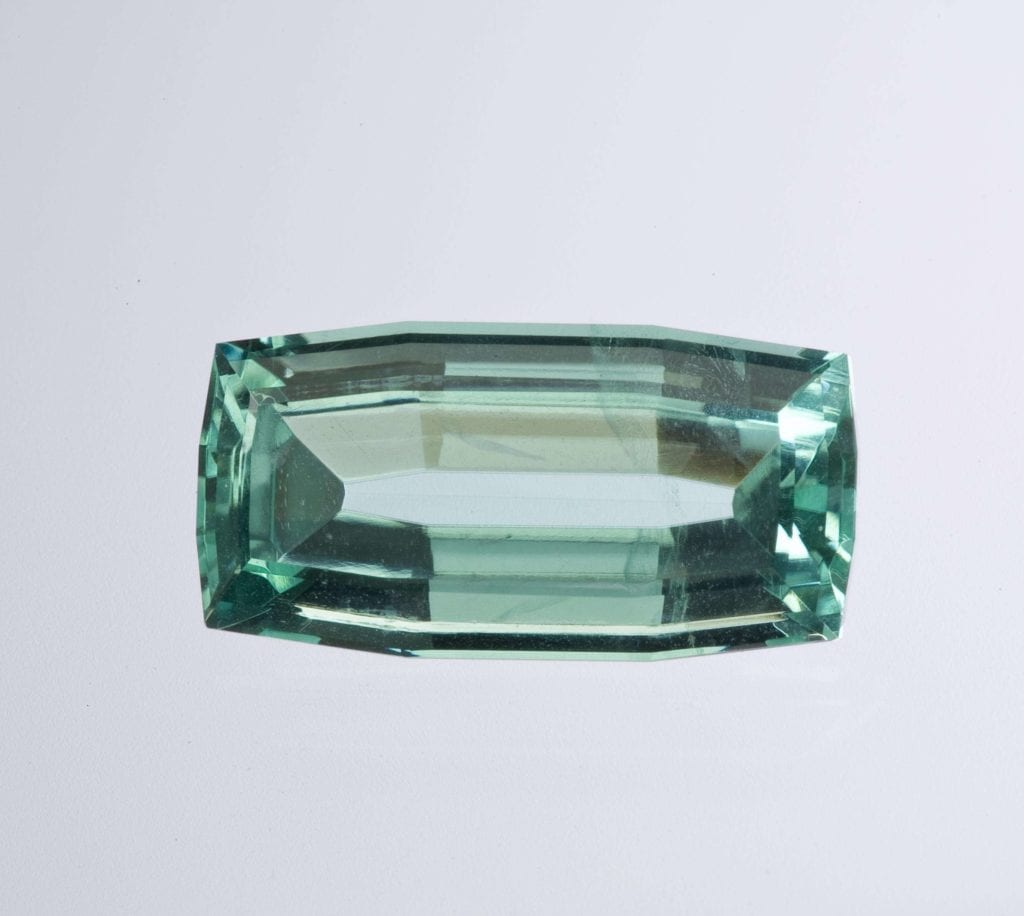 faceted phosphophyllite, 10.32 cts - Bolivia