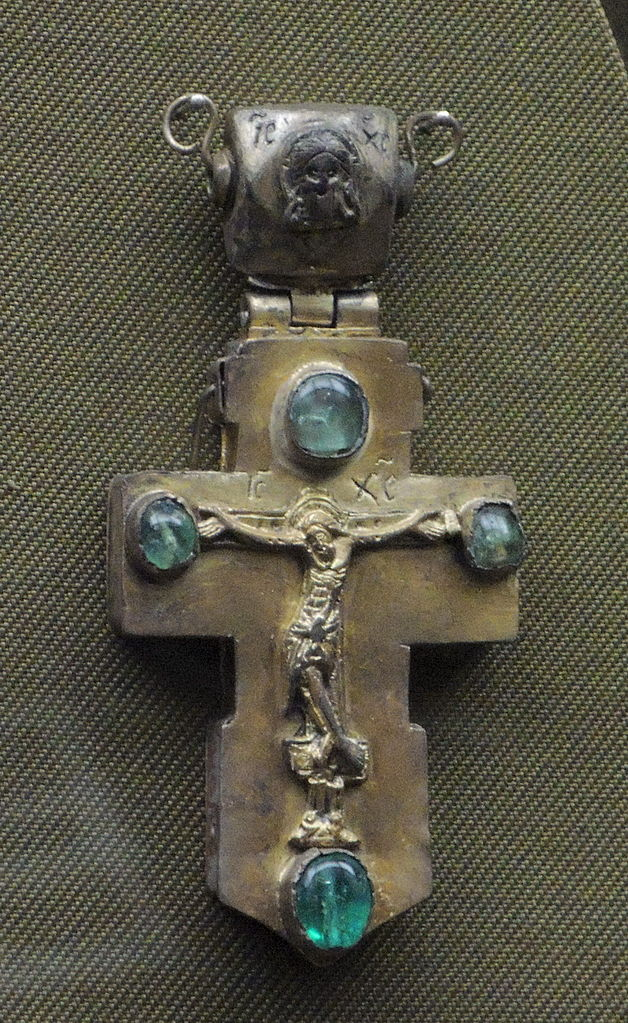 emerald symbolism - silver and emerald cross