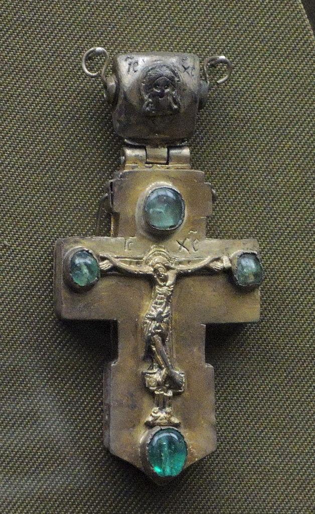 emerald symbolism - silver and emerald cross