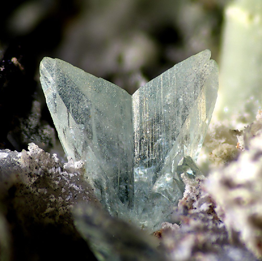 phosphophyllite crystal - Germany