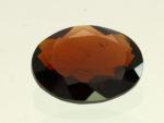 reddish brown staurolite - oval cut, Brazil