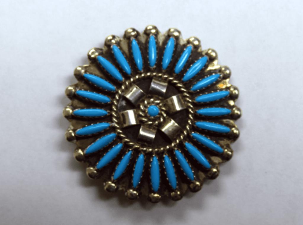 turquoise symbolism - Zuni pin