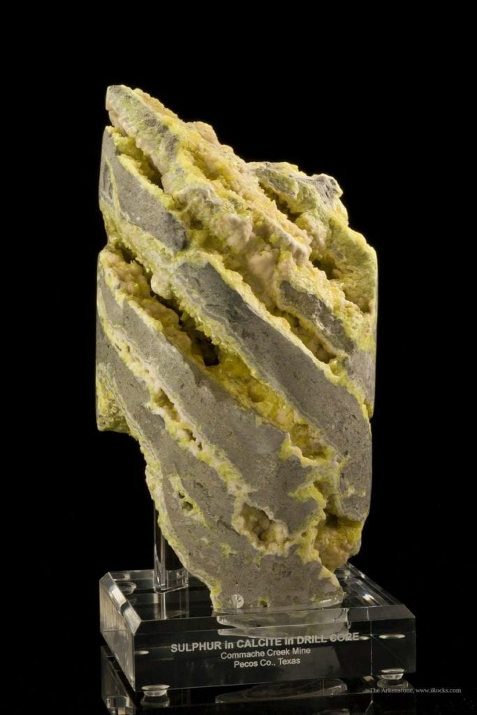 sulfur drill core - Texas