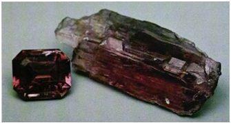 TREMOLITE: Hexagonite, Balmite, New York (~1, crystal ~ 1 inch long)