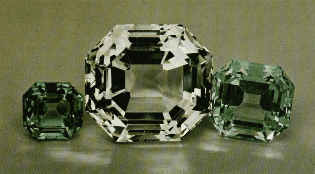 apophyllite gems - faceted