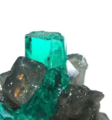 emerald symbolism - crystal on calcite