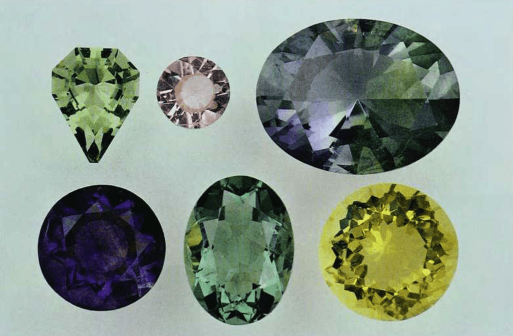 faceted fluorite 95 - six gems