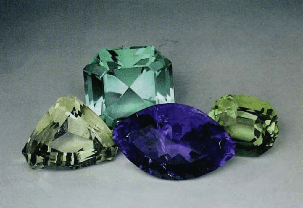 faceted fluorite 97 - four gems