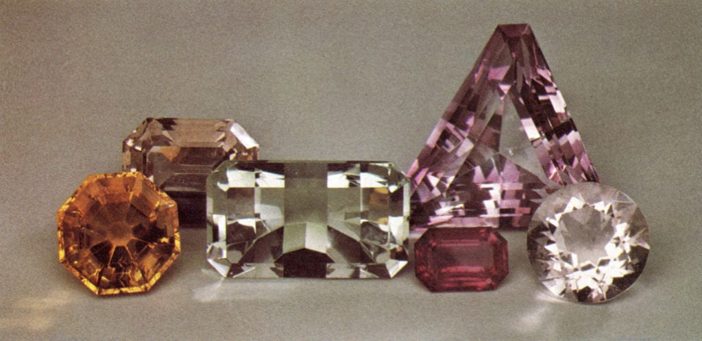 faceted fluorite - various localities