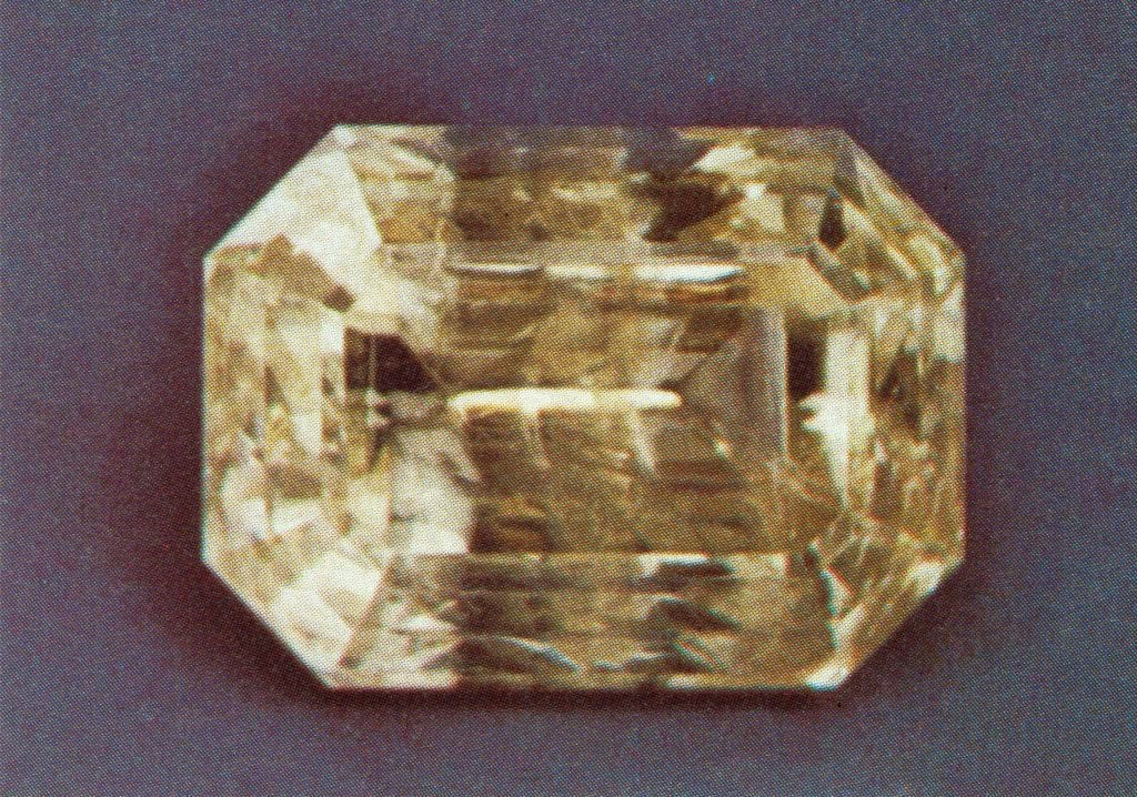 emerald-cut smithsonite - Namibia