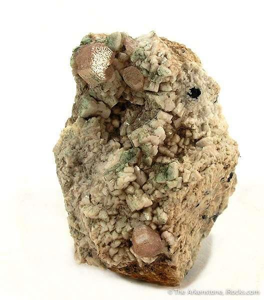 zektzerite crystals on matrix