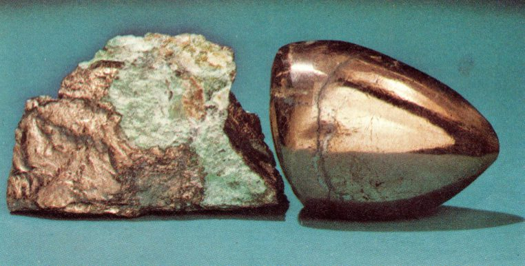 niccolite - rough and cabochon