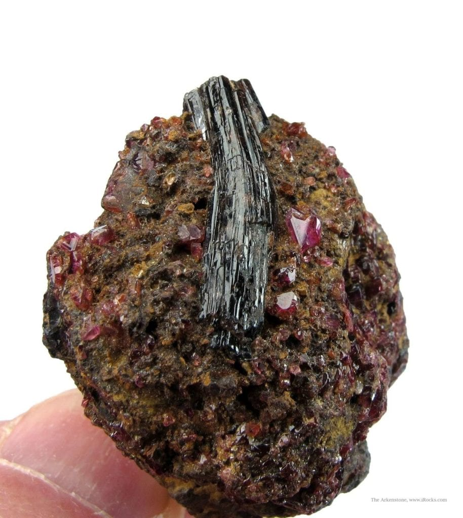 painite crystal with rubies - Myanmar