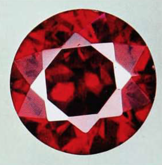 proustite - faceted