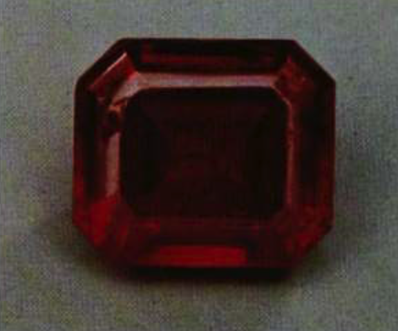 realgar - faceted