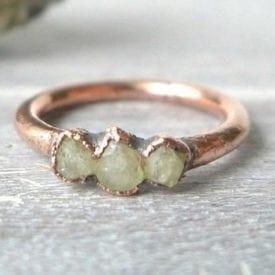 rhodizite copper ring