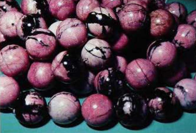 rhodonite - beads