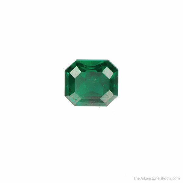 emerald-cut dioptase - Namibia
