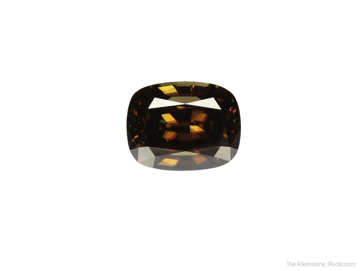 Cushion-cut cassiterite - Sri Lanka