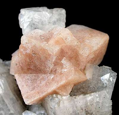 chabazite - salmon pink
