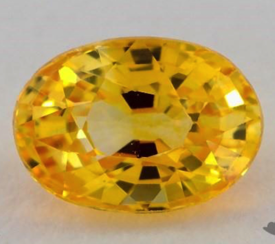 oval-cut yellow sapphire - L/W ratio
