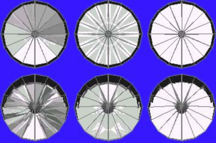 41° Pavilion and 16° Crown Ray Traces – gram wagon wheel gem design