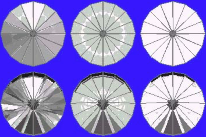 43° Pavilion and 16° Crown Ray Traces – gram wagon wheel gem design