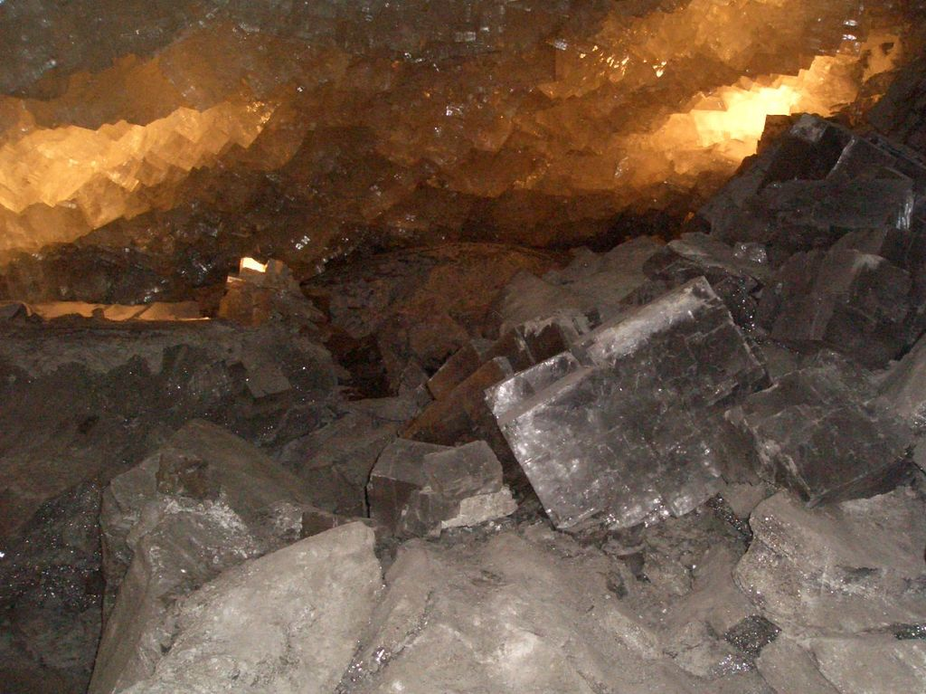 halite crystals in a mine - Germany