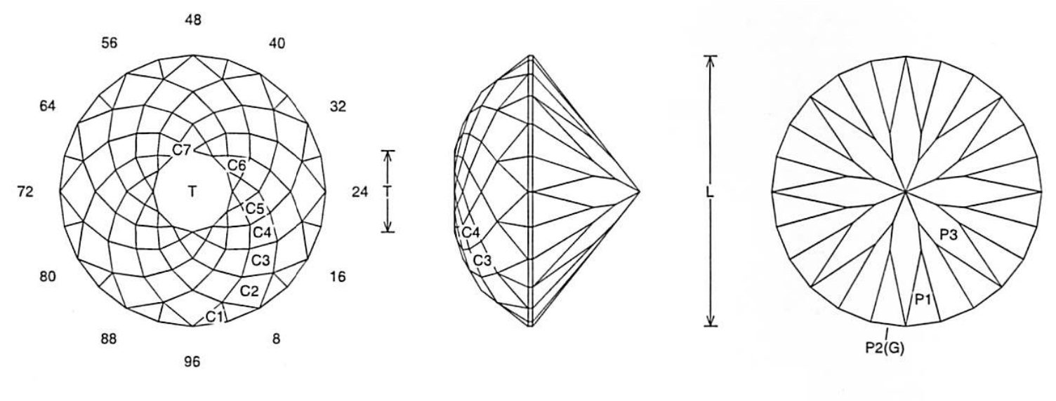 Faceting Design Diagram  24 Rose
