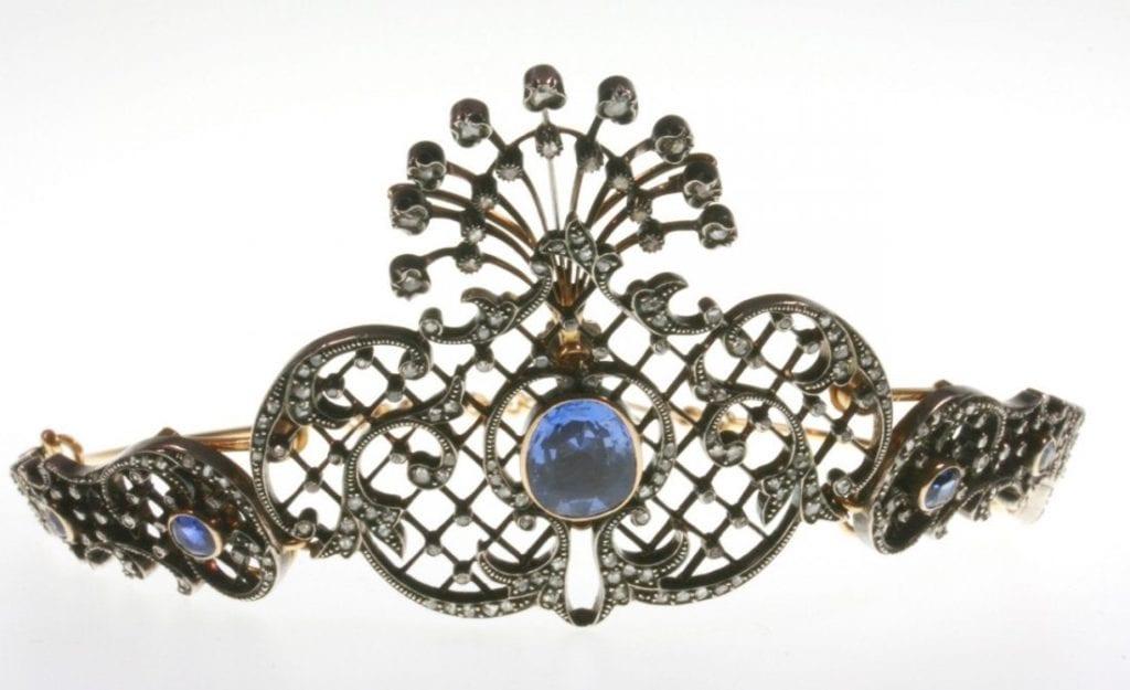 Edwardian sapphire and diamond tiara