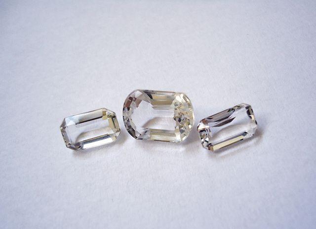 natural vs. synthetic quartz rough - rock crystals