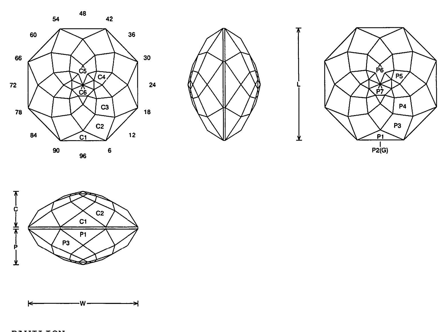 faceting design diagram  8 a u0026 39 round - quartz