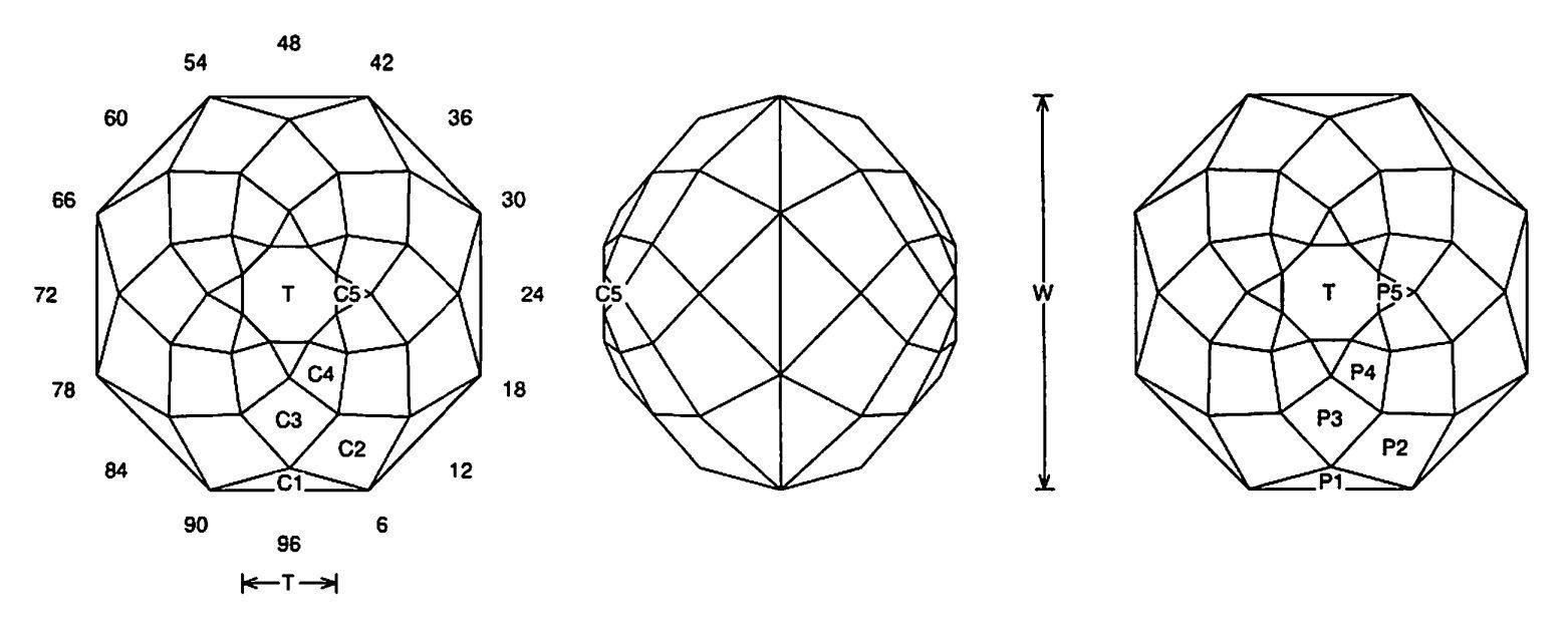 Faceting Design Diagram  88 U0026quot S - Quartz