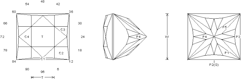 Chinese Checker gem design