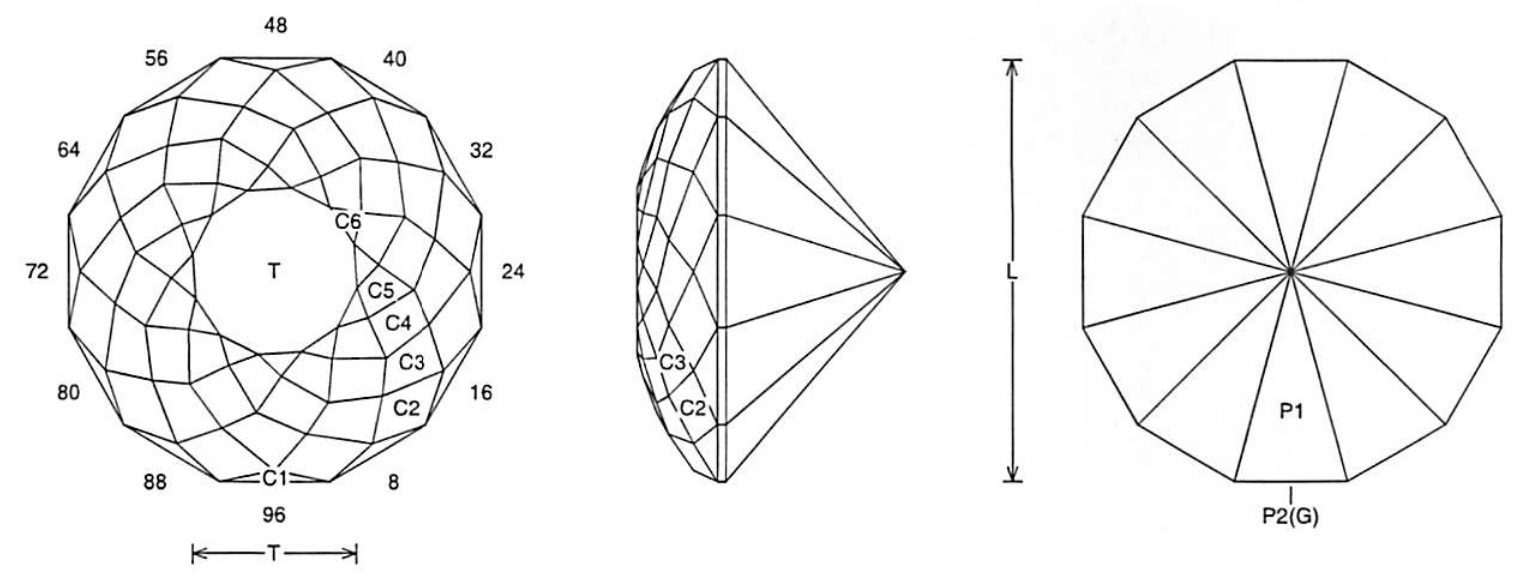 faceting design diagram  double dutch rose