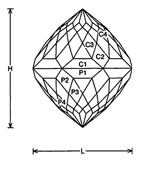 faceting design diagram  glorious - quartz