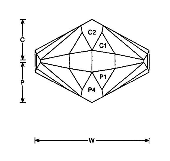 Faceting Design Diagram  Knight - Quartz