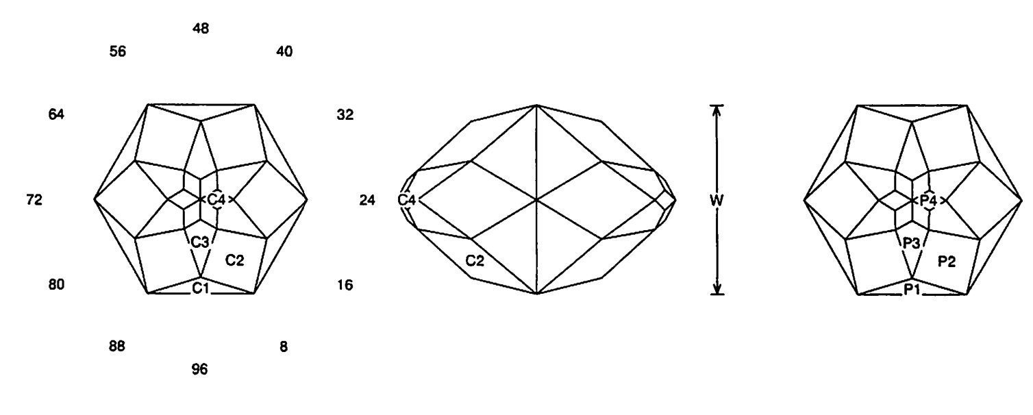 faceting design diagram  long star - quartz