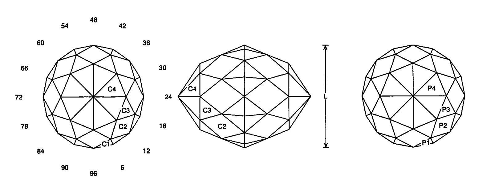 faceting design diagram  long tom - quartz