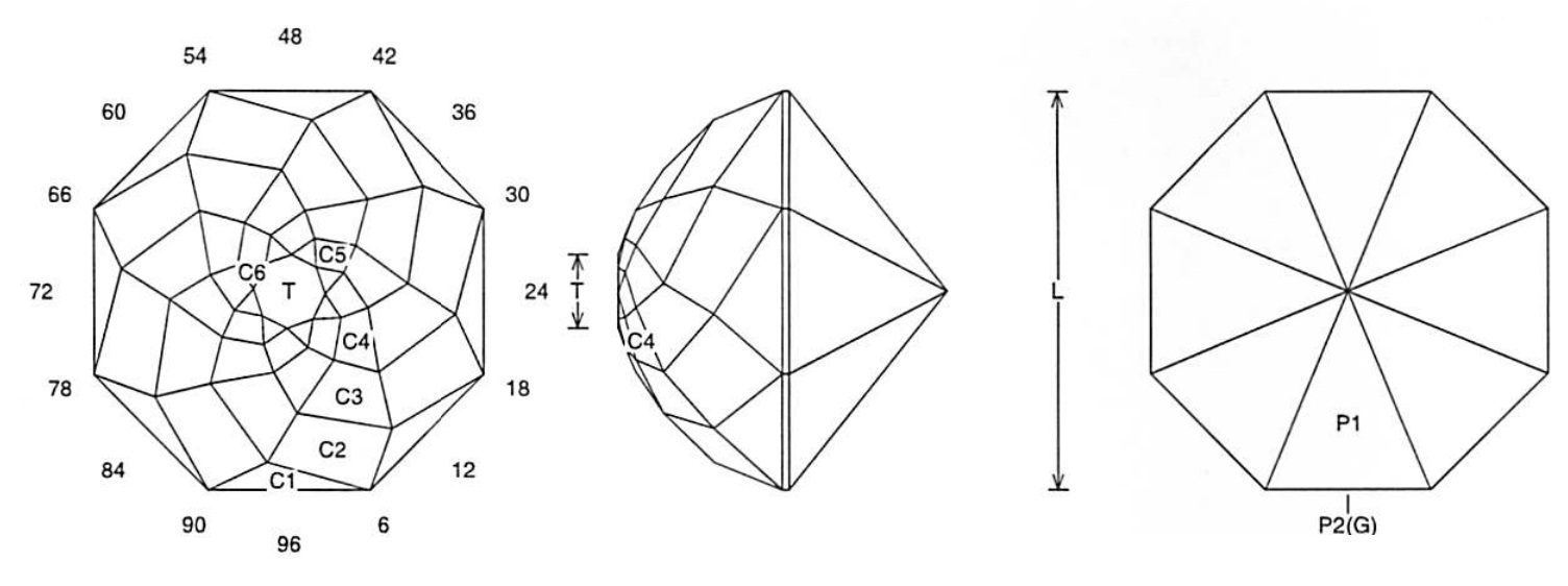 faceting design diagram  rose