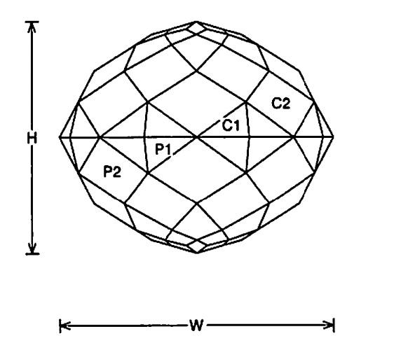 faceting design diagram  simple - quartz