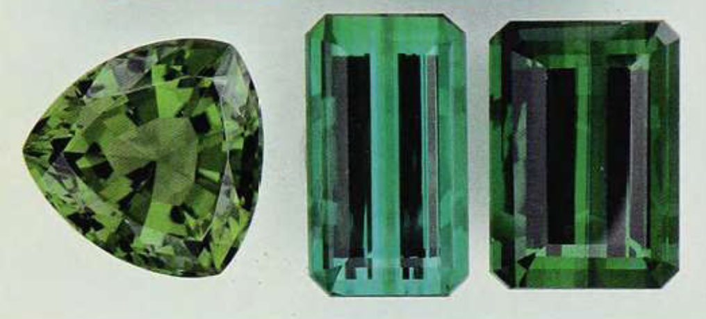 verdelite and chrome tourmaline colors