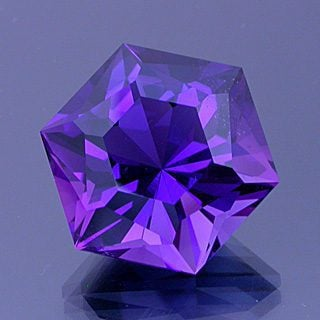 Barion Hexagon with Sawtooth Crown Cut Amethyst